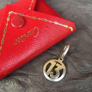 Cartier white gold 18k pendant charm 13 vintage